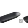 3 assiettes présentation noires