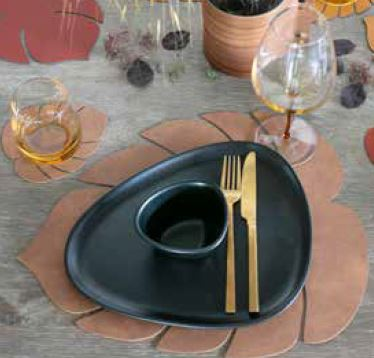Linddna set de table feuille