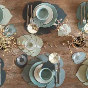 Linddna set de table feuille