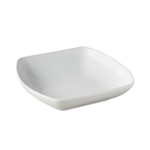 assiette-carree-creuse-en-porcelaine-blanche